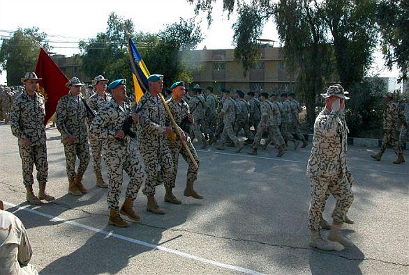 Foto: Ukrajinští vojáci v Iráku. / Ukrajinské ministerstvo obrany