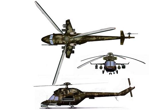 Foto: Koncept ukrajinského bitevního vrtulníku SM232; větší foto / Jumik