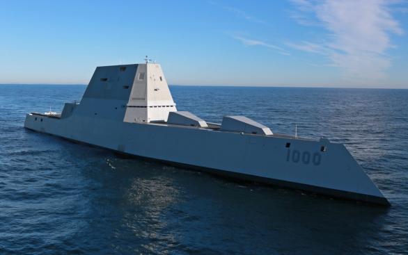 Foto: DDG-1000 USS Zumwalt na otevřeném oceánu; větší foto / U.S. Navy