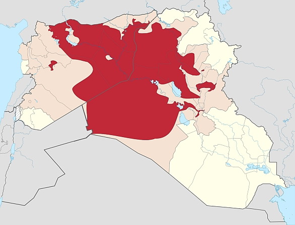 Foto: Území pod kontrolou ISIS; 4. října / Public Domain
