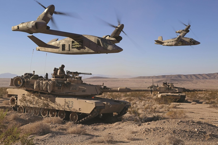 Foto: V-280 bude k dispozici i v útočné variantě. / Bell