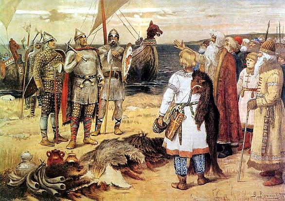 Foto: Varjagové na návštěv Slovanů. / Public domain