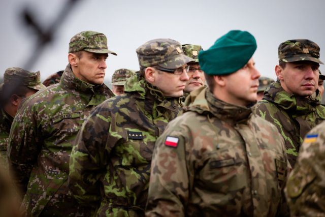 Foto: Vojáci Visegrad Battle Group. / MO SR