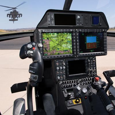 Kokpit vrtulníku AH-6I
