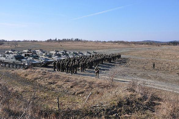 Foto: Kontrola sladěnosti 1. a 2. mechanizované roty 71. mpr s bojovou střelbou. / 71. mpr