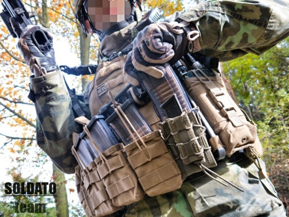 Foto: Vyjmutí puškového zásobníku je velmi rychlé. / SOLDATO Team