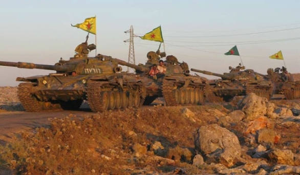 Foto: Tanky kurdských sil v Sýrii. / Public Domain