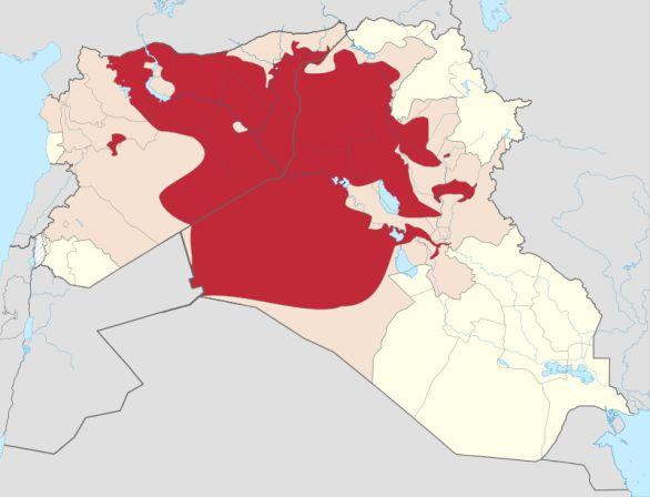 Foto: Území kontrolované Islámským státem. / Volné dílo