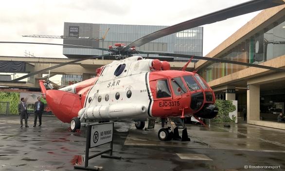 """Víceúčelový vrtulník Mi-17-1B (EJC-3375 číslo trupu, jméno Libertad-1 - """"Freedom-1""""), 3. leteckého praporu letectví letecká útočná divize Kolumbijští pozemní jednotky na výstavě """"Ekspodefensa-2017"""""""