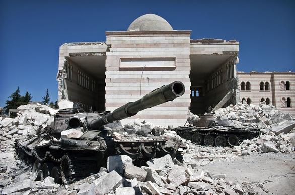 Foto: Zničené syrské tanky; ilustrační foto / Christiaan Triebert, CC BY 2.0