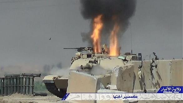 Foto: Střela prošla pancířem tanku M1A1 Abrams. / Sociální média