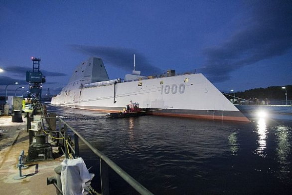 Foto: První loď DDG-1000 třídy Zumwalt. / BIW